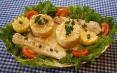 recette de Risotto aux crevettes, accompagné de cabillaud