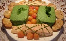 recette de Filets de saumon et purée de poivrons (basses calories)