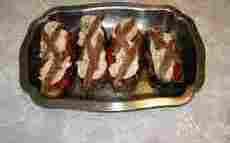 recette de Aubergines farcies tomates et mozzarella