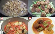 recette de boulettes de viande au céleri
