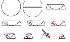 recette de triangles au fromage