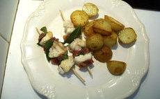 recette de Brochettes de lotte au jambon serrano – la recette