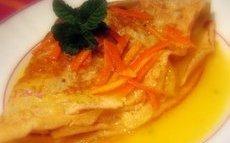 recette de Recette crêpes à l'orange et à la mangue