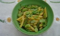 recette de Pasta aux asperges et fèves (Italie)