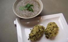 recette de kouirettes – boulettes de semoule aux herbes