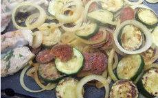 recette de legumes au chorizo à la plancha