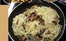 recette de Recette linguine aux champignons et à l'ail