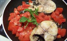 recette de thon blanc à la tomate, escabêche à la menthe