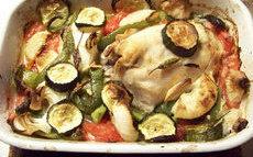 recette de poisson au four aux légumes