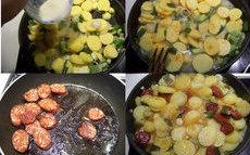 recette de Pommes de terre au chorizo