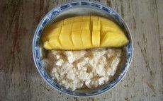 recette de riz gluant au lait de coco et mangue