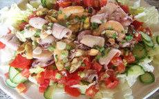 recette de Salade aux fruits de mer