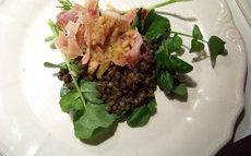 recette de salade de lentilles aux pieds de porc