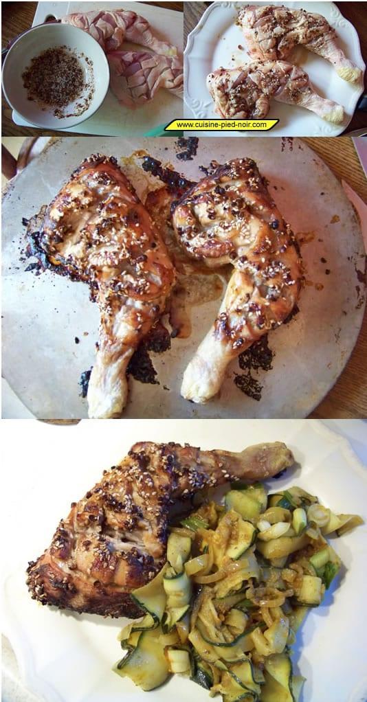poulet grillé aux épices concassées