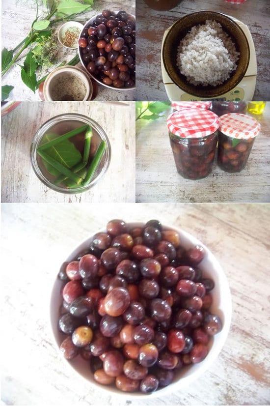 préparation des olives noires maison en images