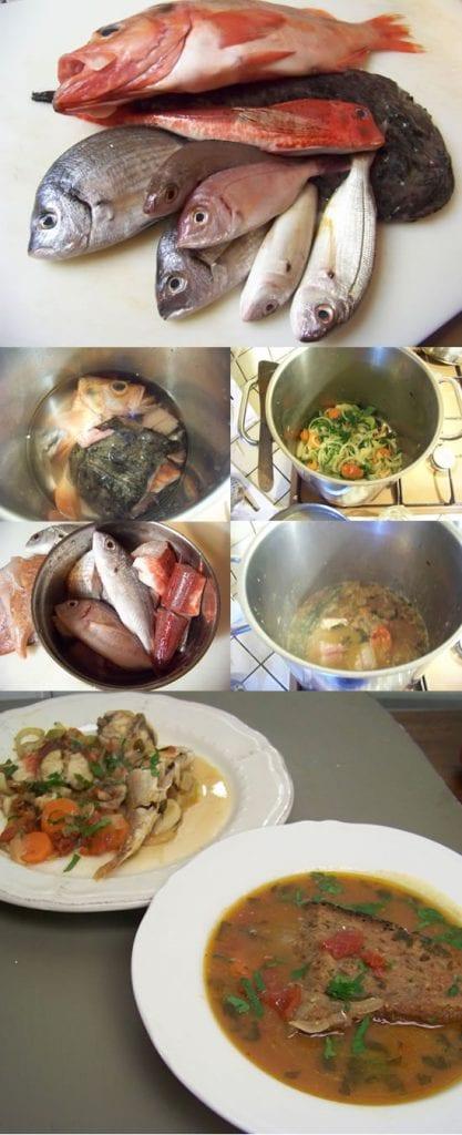 cacciuco réalisation de la soupe en images