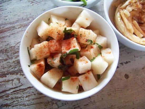salade de navets à la coréenne