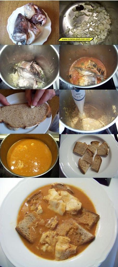 la soupe de têtes de poisson en images