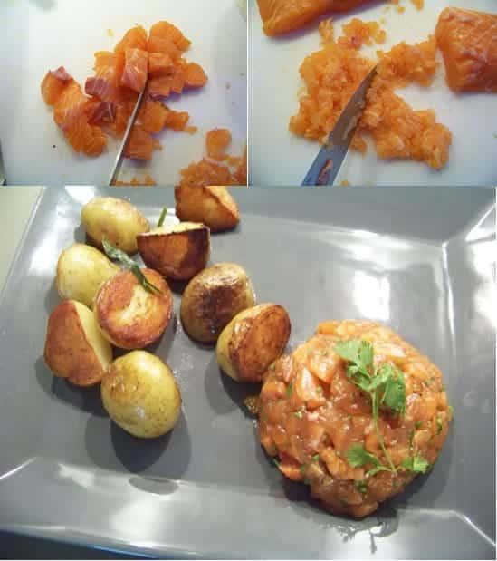 découpe du saumon façon tataki