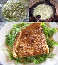 tarte à l'oignon en images