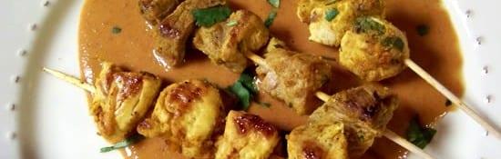 brochettes de poulet sauce aux cacahuètes