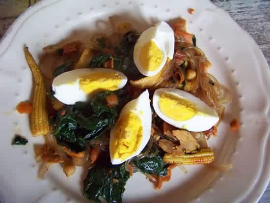 nouilles coreennes aux légumes