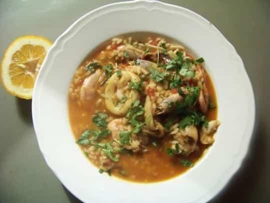 caldero, soupe épaisse au poisson