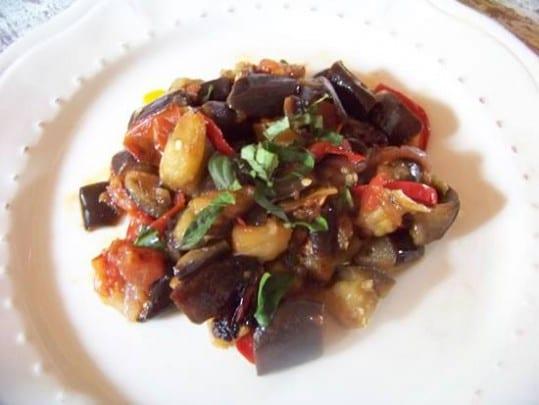 aubergines à la tomate