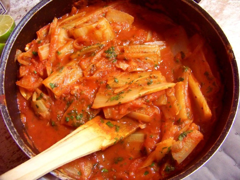 blettes à la tomate