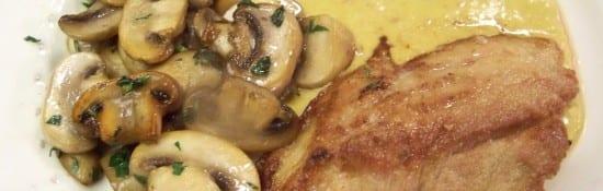 escalope sauce aigre-douce au citron confit
