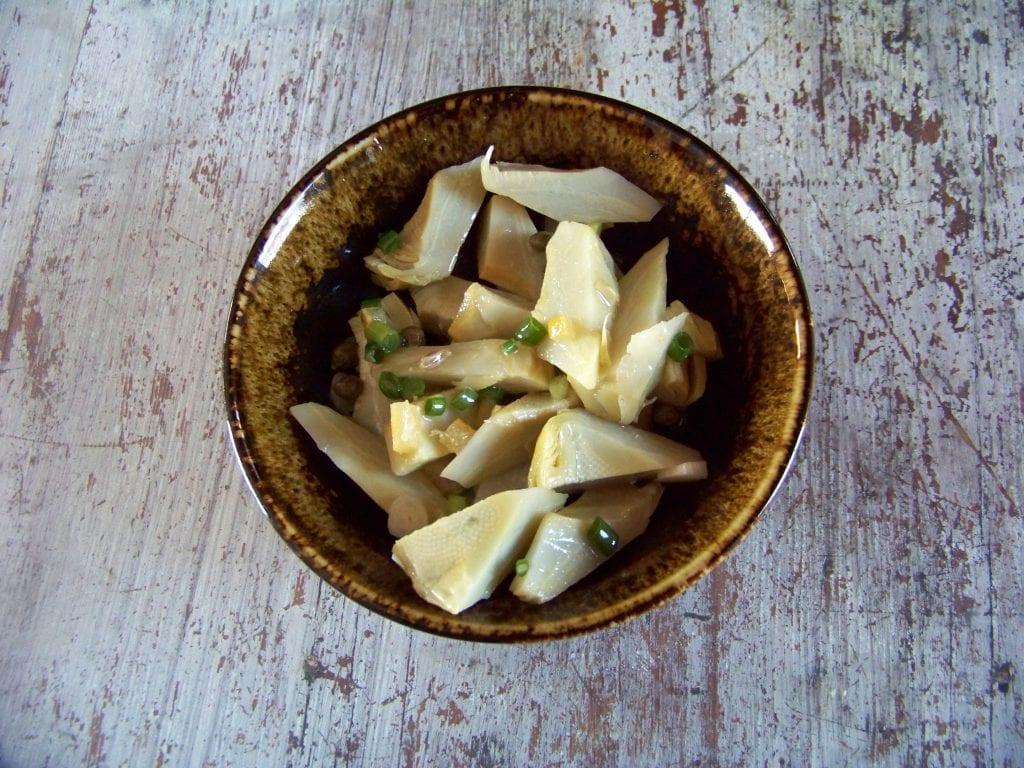 Artichauts bien blancs et prêts pour une délicieuse salade !