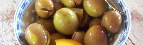 olives cassées au fenouil, une de mes variétés préférées !