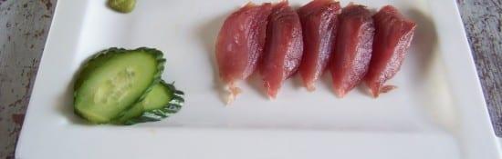 thon melva salé en sashimi