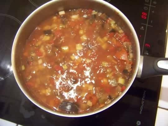 soupe d'automne aux légumes, riz et sarrasin
