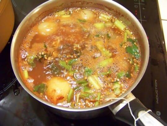 soupe de fèves sèches